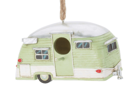 RV bird house antique travel trailer-min