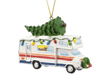 Motorhome with Christmas Tree ornament-min