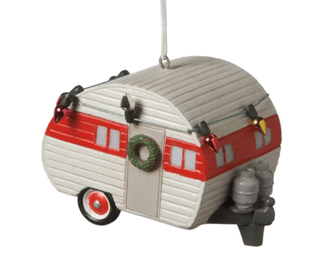 Travel trailer RV christmas ornament-min