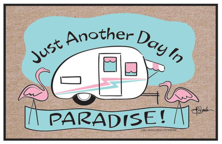 Just Another Day in Paradise RV Welcome Mat