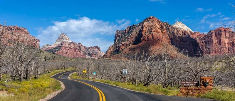 Scenic Drive Kolob Canyons Zion National Park Utah-min
