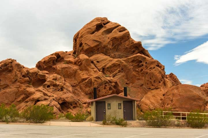 Redstone Picnic Area Lake Mead Nevada vault toilets-min