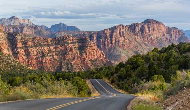 Kolob Canyons Drive Zion National Park Utah-min