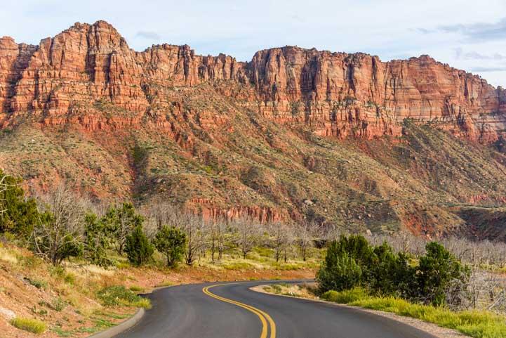 Scenic Drive Kolob Canyons Road Zion National Park Utah-min