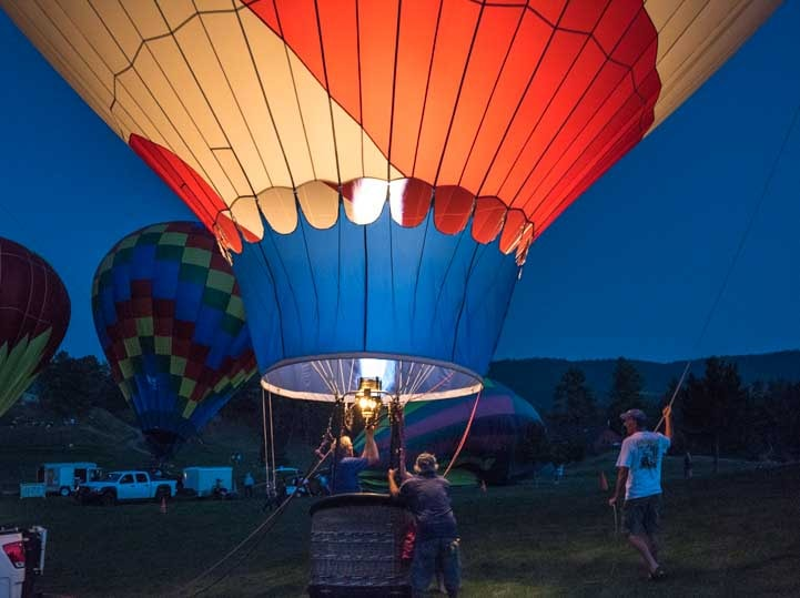 Balloon Glow Fall River Hot Air Balloon Festival Hot Springs South Dakota RV trip-min
