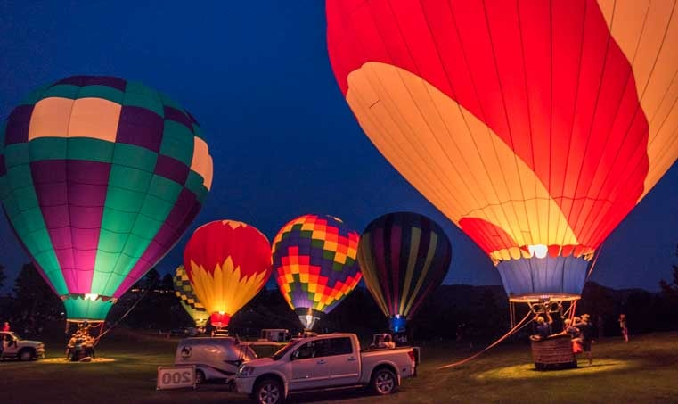 Fall River Balloon Festival Balloon Glow Hot Springs South Dakota RV trip-min