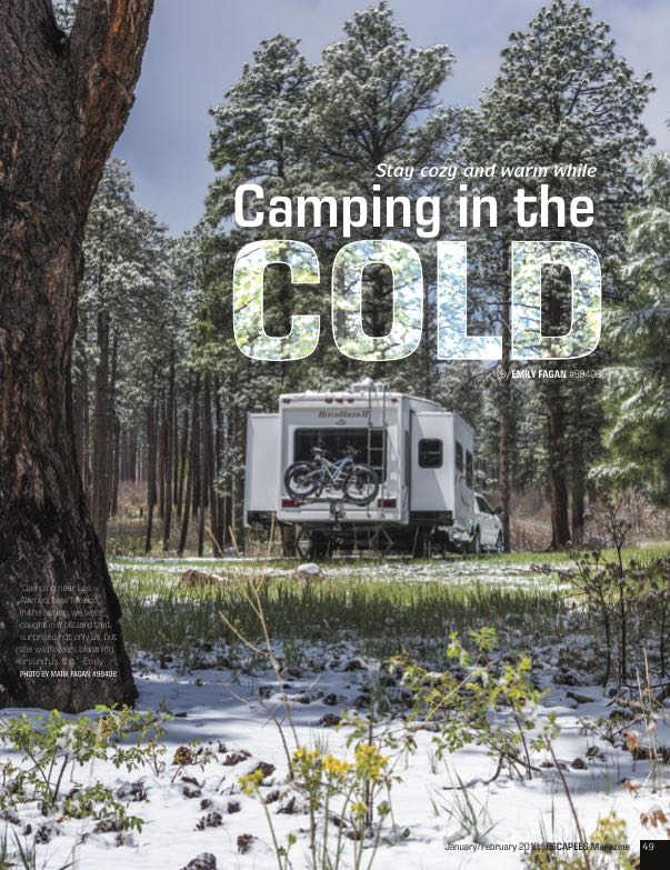 Winter RVing Tips article in Escapees RV Club Magazine-min