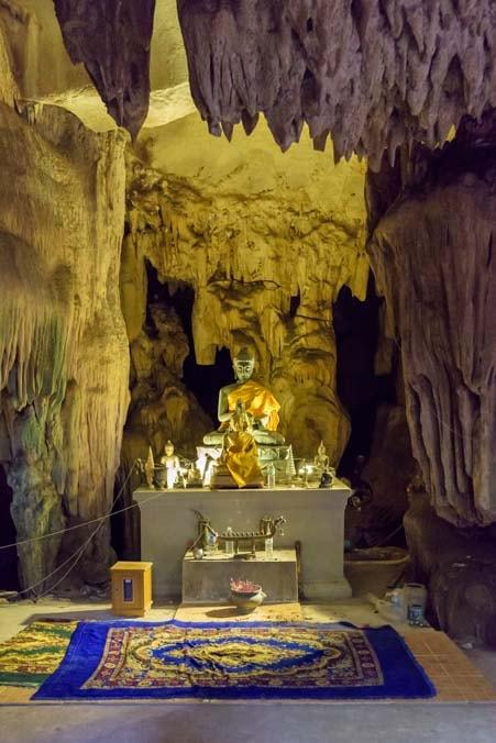 Buddha statue in Lawa Cave Kanchanaburi Thailand copy-min