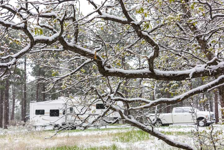 RV in snow and RVing in cold weather-min