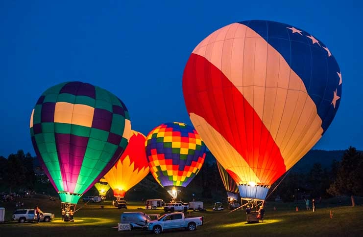 Fall River Balloon Festival Hot Springs South Dakota RV trip-min
