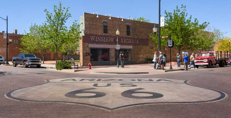 Winslow Arizona Route 66 RV trip-min