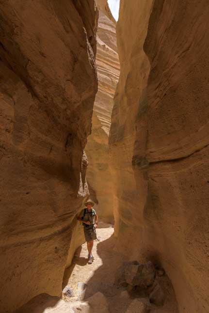 Slot canyon at Tent Rocks National Monument New Mexico-min