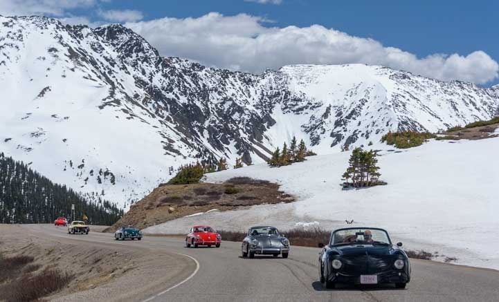Porsche Rally in Colorado Rocky Mountains-min