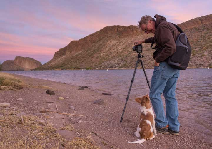 Photographing-sunrise-at-Canyon-Lake-Arizona-on-an-RV-trip-min