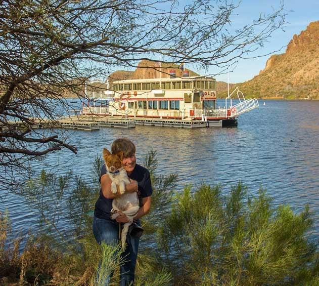Dolly Steamboat Canyon Lake Arizona RV trip-min