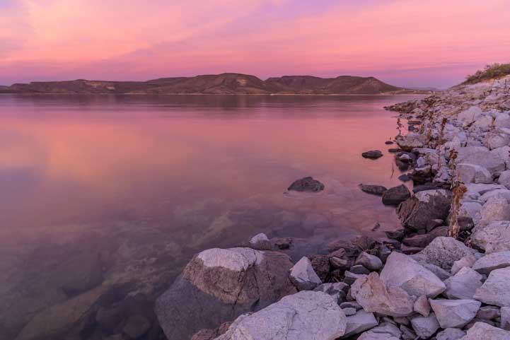 Sunrise at Lake Pleasant Arizona-min
