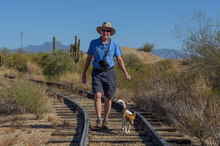 Goldfield Ghost Town train track hobos Apache Junction Arizona-min