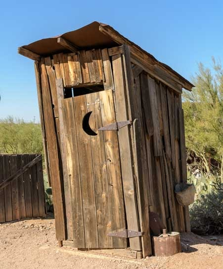 Goldfield Ghost Town outhouse-min