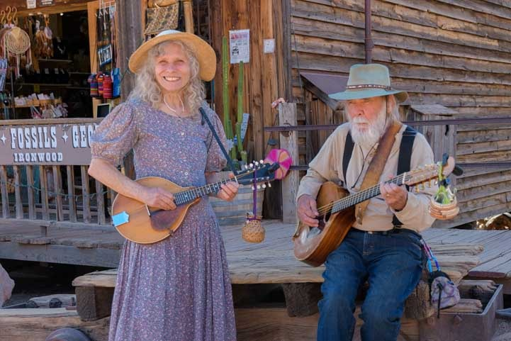 Musicians Goldfield Ghost Town Superstition Mountains Arizona-min
