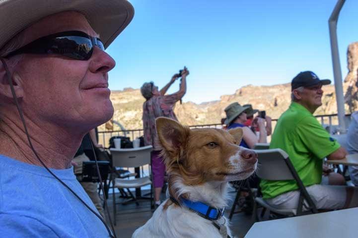 Admiring views Canyon Lake Dolly Steamboat Arizona-min