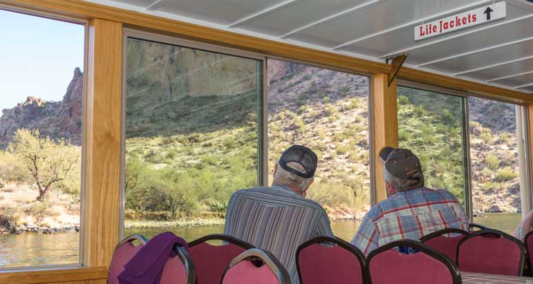 Admiring the views Dolly Steamboat Canyon Lake Arizona-min