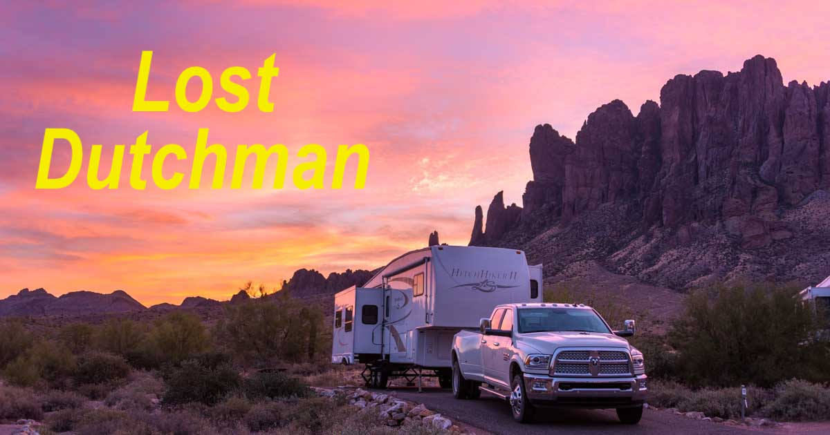 Lost Dutchman State Park Campground Arizona Gold In The