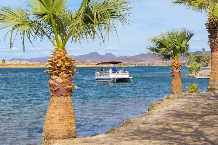 Party boat on Colorado River Parker Arizona RV trip-min