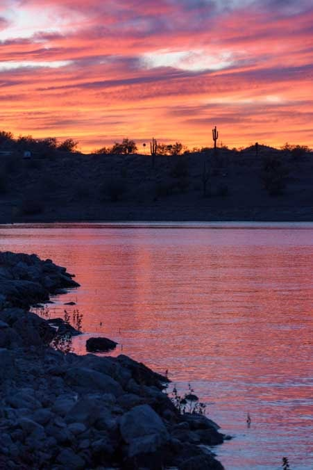 Sunset at Lake Pleasant Arizona-min