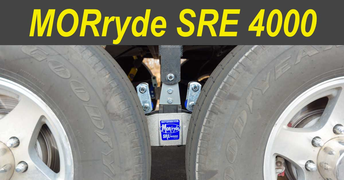MorRyde SRE 4000 Trailer Suspension Installation and Review