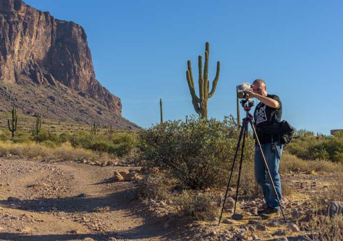 Video shoot hiking at Lost Dutchman State Park Arizona