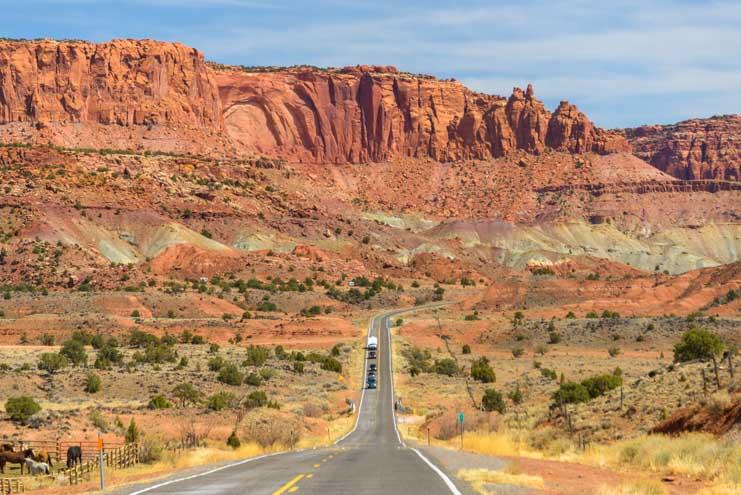 Utah 24 Capitol Reef National Park Scenic Drive-min