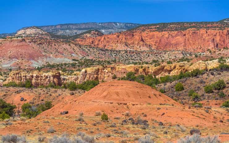 Views on Capitol Reef National Park Utah Highway 24 Scenic Drive-min