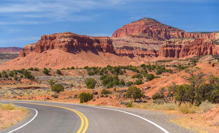 Capitol Reef National Park Utah Byway 24 Scenic Drive RV trip-min