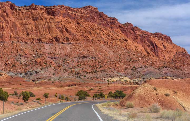 Capitol Reef National Park Utah Route 24 Scenic Drive RV trip-min