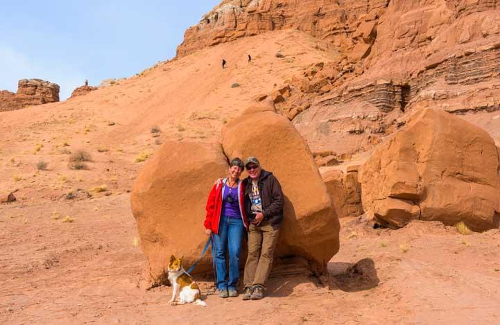 Selfie Goblin Valley State Park Utah RV trip-min