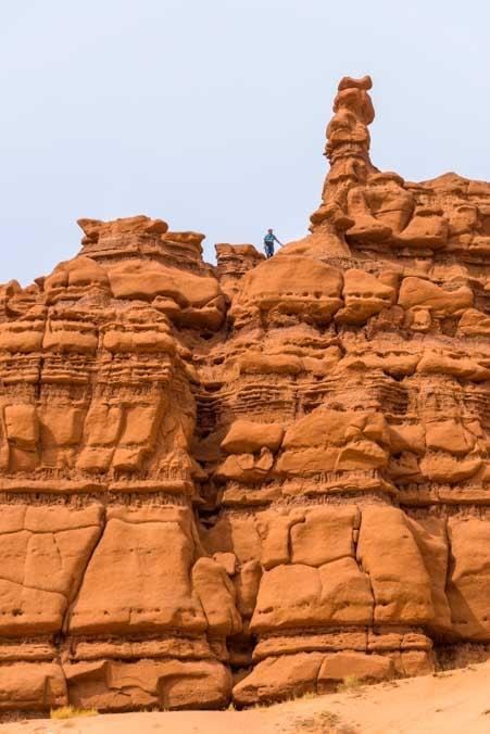 Carmel Canyon Hike Goblin Valley State Park Utah RV trip-min