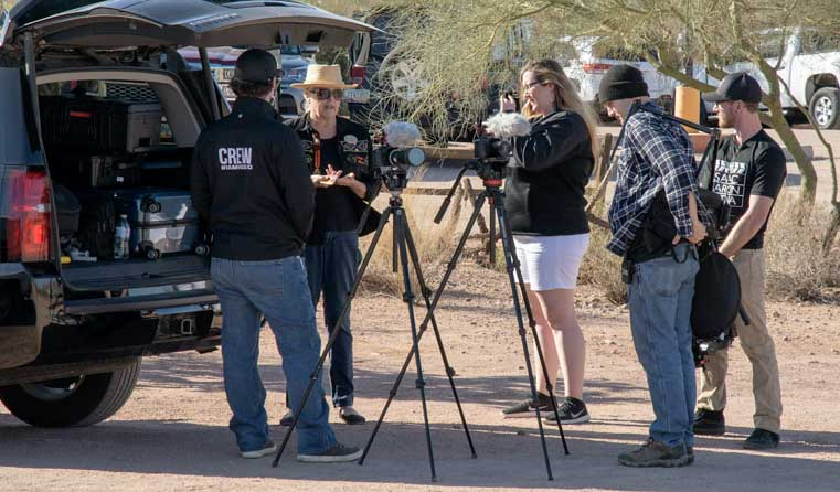 Isaac Aaron Media Crew at Superstition Mountain Museum Arizona-min