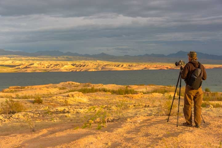 Photography on Lake Mead Nevada RV trip-min