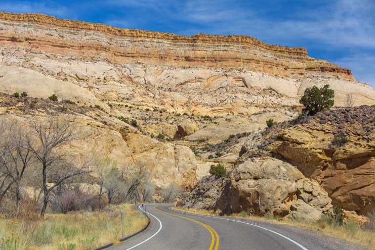 Rock canyon Utah Byway 24 Scenic Drive Capitol Reef National Park RV trip_-min