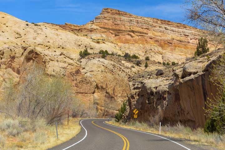 Views Utah Route 24 Scenic Drive Capitol Reef National Park RV trip-min