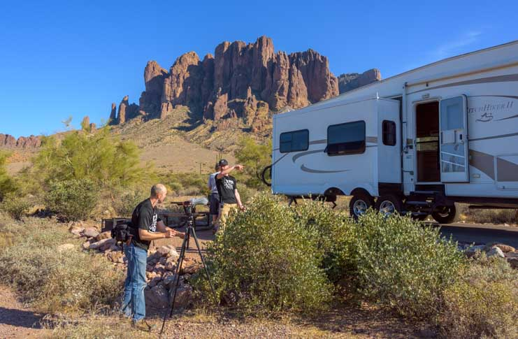Lost Dutchman State Park Camping World Video Shoot with Mark and Emily-min