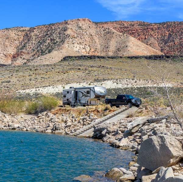 RV camping at Gunlock State Park Utah-min