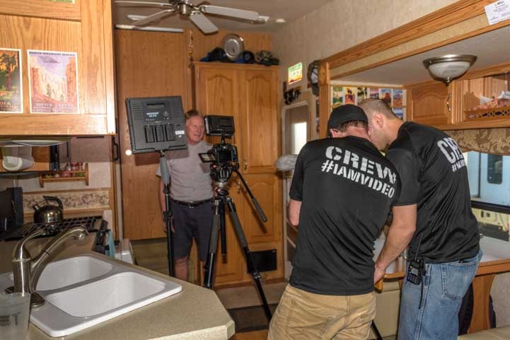 RVing is for Everyone Camping World video shoot with Mark and Emily-min