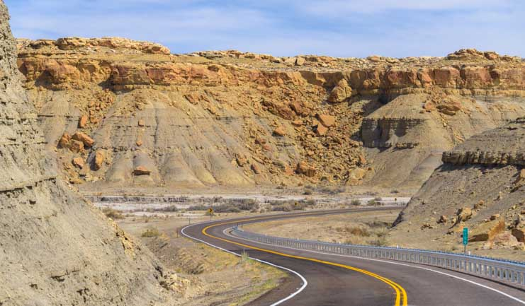 Stone canyon Capitol Reef National Park Utah Highway 24 Scenic Drive by RV-min
