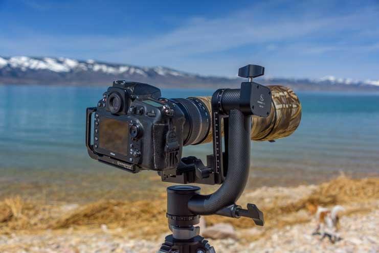 SunwayFoto GH-01 Gimbal Head Tamron 150-600 mm lens Nikon D500 camera-min