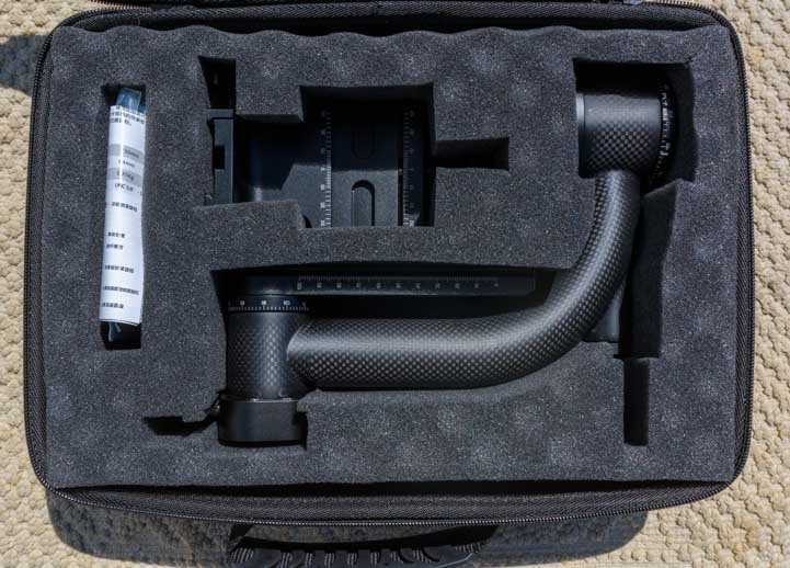 Suitcase layout Sunwayfoto GH-01 Gimbal Head-min