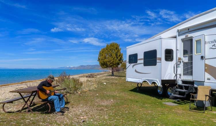 Living in a fifth wheel trailer RV full-time-min