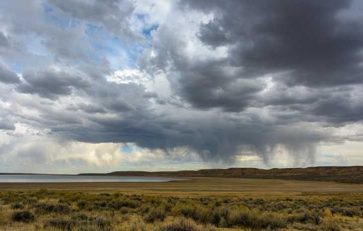 Stormy skies Fontenelle Recreation Area Wyoming-min