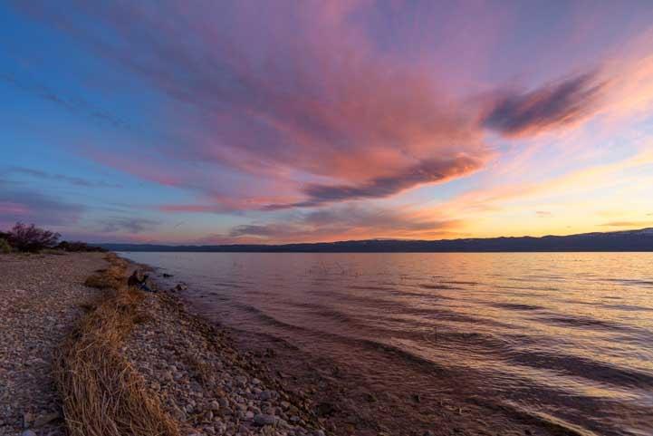 Sunset on RV trip to Bear Lake Utah-min