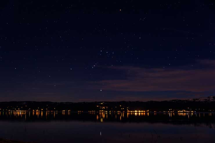 Orion Constellation on RV trip to Bear Lake Utah-min
